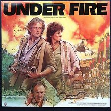 UNDER FIRE Film Score OST LP Jerry Goldsmith [Rare '83 Import] Nolte Pat Metheny