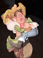 """Cow Pie County Figurine by Raham """"Last Call Larry"""""""