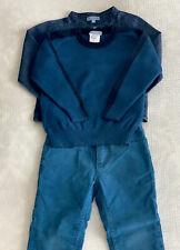Jacadi Boy Set, Cashmere Sweater, Pants and Jeans Shirt, Size T3