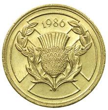 £ 2 due Pound Coin, giochi del Commonwealth Scozia, 1986-circolata, RARA Cardo