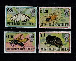 British Indian Ocean Territory 1976 Wild Life Issue MNH Set (4v)