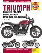 6401 Haynes Triumph Bonneville, Bobber, Thruxton, Street Twin, Cup & Scra Manual