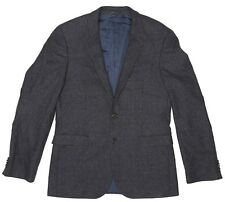 Boss Hugo Boss Mens Grey Two Button Sports Coat Sz 40R 1235