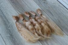 "Mohair Doll Hair color caramel blond 8-11""  0.35 oz locks angora DIY baby reborn"