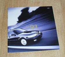 Saab 93 Brochure 1999 - 9-3 Coupe Hatchback Convertible 2.0 Turbo 2.0t 2.2 TID
