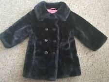 CIRCO Furry Faux Fur Black Winter Coat Girls Size 12 months