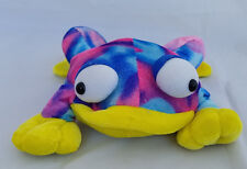 "Rinco Multi Colored Frog (pink/blue/yellow) stuffed/plush animal - 9"""