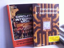2 LIVRES MICROELECTRONIQUE  RADIO Circuits intégrés MOS LINEAIRES H LILEN
