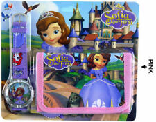 NEW SOFIA THE FIRST KIDS CHILD ACCESSORIES WRIST WATCH & WALLET ELECTRONIC TOY