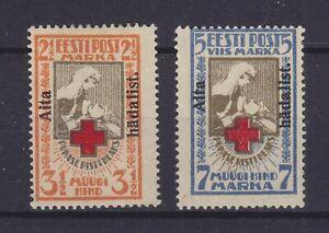 ESTONIA 1923, RED CROSS, Mi 46A-47A, MLH, Mi € 300,-