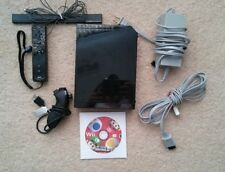 Nintendo Wii Black Console w/ Accessories + Mario Bros game!!! TESTED & WORKING