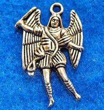 50Pcs. WHOLESALE Tibetan Silver Archangel Miguel ANGEL Charms Pendants Q0866