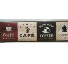 COFFEE CAFE KITCHEN NEW YORK Wallpaper Border 6 3/4""
