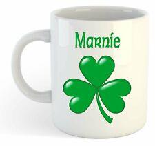 Marnie - Shamrock Personalised Name Mug - Irish St Patricks Gift