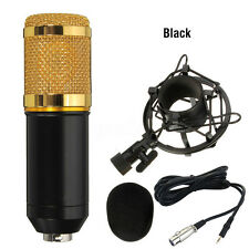 Microphone Pro Condensateur Mic KTV Studio DJ Chant Enregistrement + Support NF