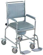 NRS Healthcare Nachtstuhl mit Rollen gepolsterter Sitz/Rückenlehn Toilettenstuhl