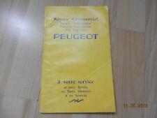 catalogue Réseau commercial  PEUGEOT juillet 1964 403 203 404