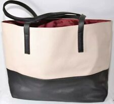 Mary Kay Cityscape Tote purse faux-leather black & beige FREE PRIORITY Shipping
