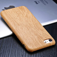 Wood Grain Patterned PU Leather Case Cover Shell Skin For iPhone 7 7 Plus 6 6s+