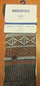 Birkenstock Earth I Cotton Blend Men's Socks Size XL Size 12-14 Brown Melange
