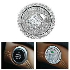 Bling White Diamond Car Engine Ignition Start Button Decor Ring  Crystal Sticker