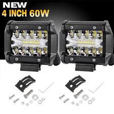 """4""""   Row 60W 20LED Work Lights Bar Driving Fog Flood Spot for Truck ATV UK  I"""