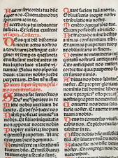 Rubricated Incunable Leaf Brevarium (62) - 1495