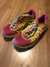 Under Armour Women's Yellow Pink Athletic Tennis Shoes Size 4.5