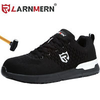 Steel Toe Safety Shoes for Men SRC Slip Resistance Breathable Work Boots
