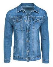 Giubbotto di jeans uomo Diamond casual denim chiaro giacca giubbino slim fit
