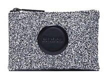 Mimco Sparks Glitz Black White Glitter Small Pouch Wallet Purse Wristlet