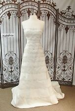 W51 MATTHEW CHRISTOPHER 2803 SZ 14 OFF WHITE $4999  STRAPLESS  WEDDING DRESS
