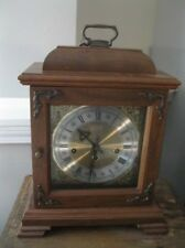 VINTAGE HAMILTON MANTLE CLOCK WESTMINSTER CHIME WITH KEY EXCELLENT SHAPE 340-020