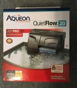 Aqueon Aquarium Power Filter Quiet Flow 20 LED PRO (see details)
