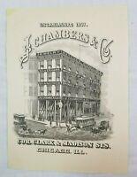 1887 Chicago Illinois JB Chambers Jewelry Dibble Thomson Coffee Advertisement AD