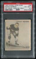 1933-34 V357 WWG Ice Kings #36 Howie Morenz HOF Canadiens SP POP 1 PSA 4.5