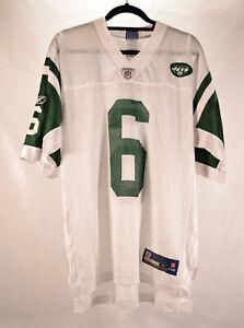 New York Jets Reebok Mens Medium Mark Sanchez #6 NFL Football Jersey White Green