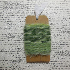 Fibers 10 Yds Scrapbook Mixed Media Tags Gift Wrap Quilt Green Angel Hair Yarn