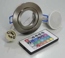 Led Feuchtraum Einbaustrahler nm+RGB warmweiß dimmbar mit Fernbedienung 230V