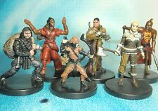 Dungeons & Dragons Miniatures Lot  Player Character Party Seasoned !!  s112