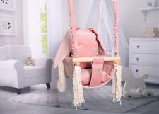 Baby Swing Swings Chair Child Wood Swing Chair Bunny Toy Bunny Rabbit Ears