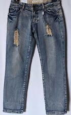 "WOMEN'S JEANS LILY LOVES CROPPED DISTRESSED SIZE 10/28"" LEG 27"" NWT FREE POSTAGE"