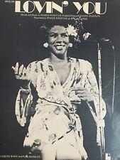 Vintage R&B Sheet Music Minnie Riperton LOVIN' YOU 1972 Epic Records Photo Cover
