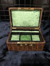 Antique Victorian Crocodile Skin Jewellery Box