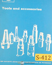 Sip 620 720, Hauser, Tooling and Equipment, Tooling Systems Manual 1982