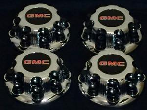 8 LUGS NEW GMC 2003 2015 SAVANA SIERRA YUKON XL CHROME WHEEL CENTER CAP HUB 4PCs
