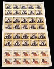 1914-16 WWI Delandre sheet - 2 different designs - RARE