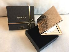 GUCCI PREMIERE GOLD COMPACT MAKE UP / POCKET MIRROR New in Box
