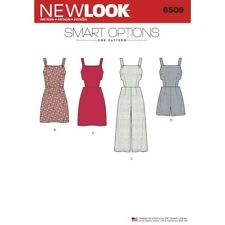 New Look Sewing Pattern 6509 Women's Jumper, Romper, and Dress