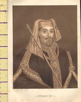 C1860 Vittoriano Stampa ~ Henry IV